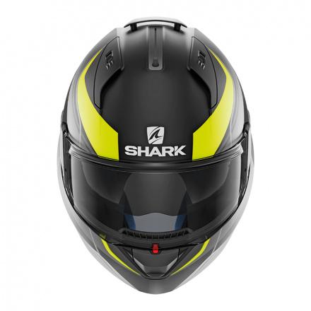 Shark EVO ONE 2 Krono Mat, Mat Zwart-Fluor-Grijs (2 van 3)