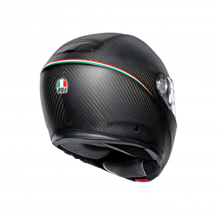 AGV Sportmodular Multi Stripes (Pinlock), Zwart-Carbon (5 van 5)