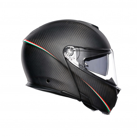 AGV Sportmodular Multi Stripes (Pinlock), Zwart-Carbon (3 van 5)