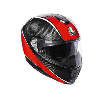 Sportmodular Multi Stripes (Pinlock) - Rood-Carbon