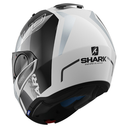 Shark Evo-one 2 Slasher, Wit-Zwart-Zilver (4 van 5)