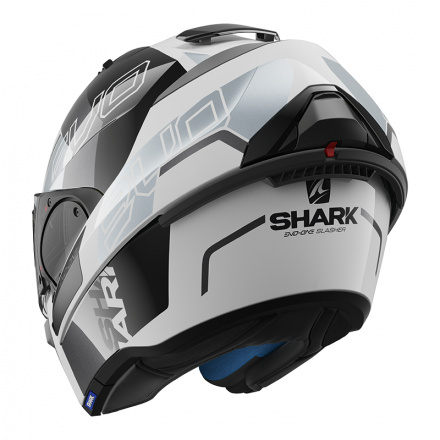 Shark Evo-one 2 Slasher, Wit-Zwart-Zilver (5 van 5)