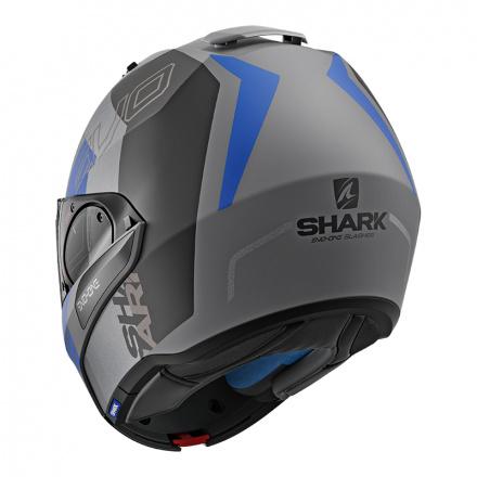 Shark Evo-one 2 Slasher Mat, Mat Zwart-Antraciet-Blauw (4 van 5)