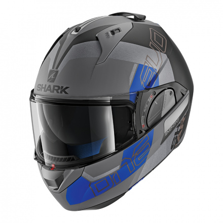 Evo-one 2 Slasher Mat - Mat Zwart-Antraciet-Blauw