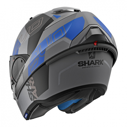 Shark Evo-one 2 Slasher Mat, Mat Zwart-Antraciet-Blauw (5 van 5)