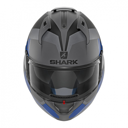 Shark Evo-one 2 Slasher Mat, Mat Zwart-Antraciet-Blauw (2 van 5)