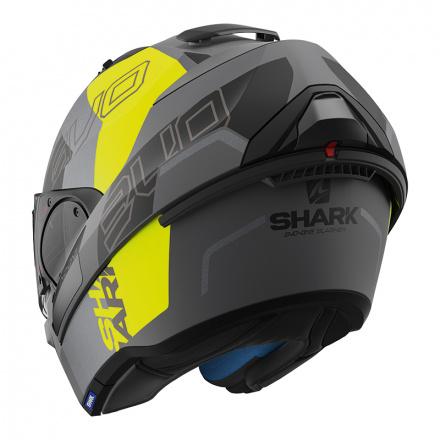 Shark Evo-one 2 Slasher Mat, Mat Zwart-Antraciet-Geel (5 van 5)