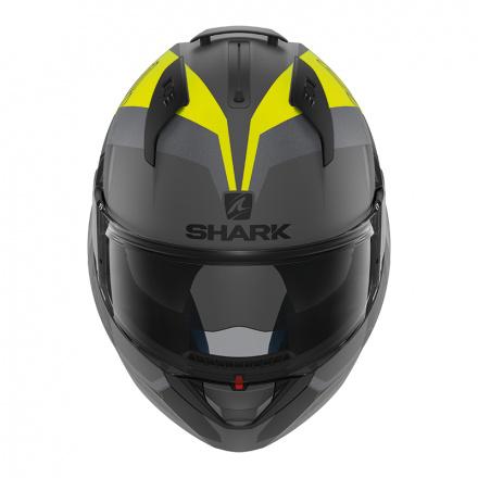 Shark Evo-one 2 Slasher Mat, Mat Zwart-Antraciet-Geel (2 van 5)