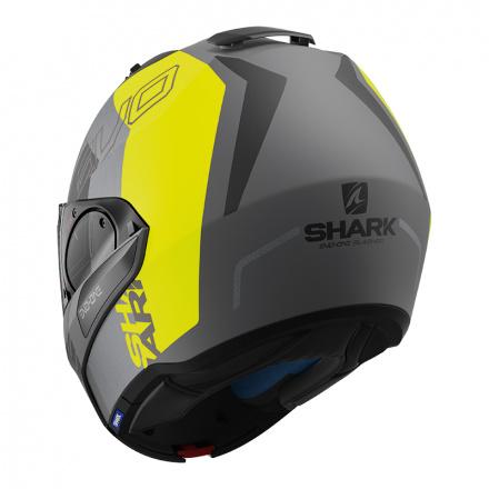 Shark Evo-one 2 Slasher Mat, Mat Zwart-Antraciet-Geel (4 van 5)