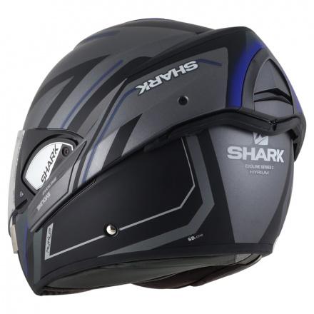 Shark Evoline 3 Hyrium Mat, Antraciet-Blauw-Zwart (4 van 4)