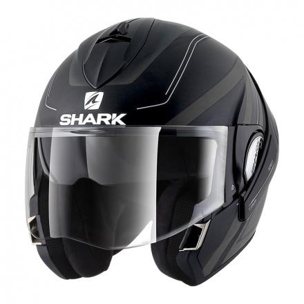 Shark Evoline 3 Hyrium Mat, Zwart-Antraciet-Wit (3 van 4)