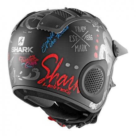 Shark X-drak Freestyle Cup Mat, Zwart-Antraciet-Blauw (5 van 5)