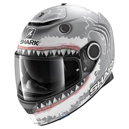 Shark Spartan 1.2 Lorenzo White  Mat, Antraciet-Wit-Zilver (1 van 3)