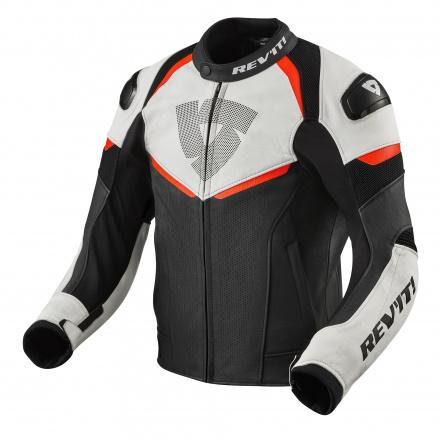 REV'IT! Jacket Convex, Zwart-Neon Rood (1 van 2)