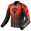 REV'IT! Jacket Quantum, Zwart-Neon Rood (Afbeelding 1 van 2)