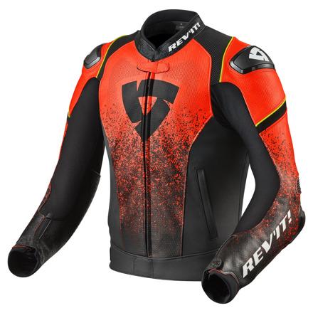 REV'IT! Jacket Quantum, Zwart-Neon Rood (1 van 2)