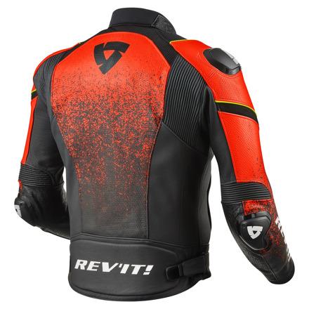 REV'IT! Jacket Quantum, Zwart-Neon Rood (2 van 2)