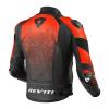 REV'IT! Jacket Quantum Air, Zwart-Neon Rood (Afbeelding 2 van 2)