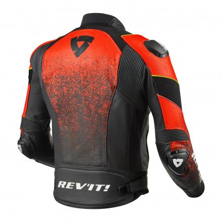 REV'IT! Jacket Quantum Air, Zwart-Neon Rood (2 van 2)