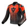 REV'IT! Jacket Quantum Air, Zwart-Neon Rood (Afbeelding 1 van 2)