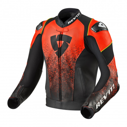 REV'IT! Jacket Quantum Air, Zwart-Neon Rood (1 van 2)