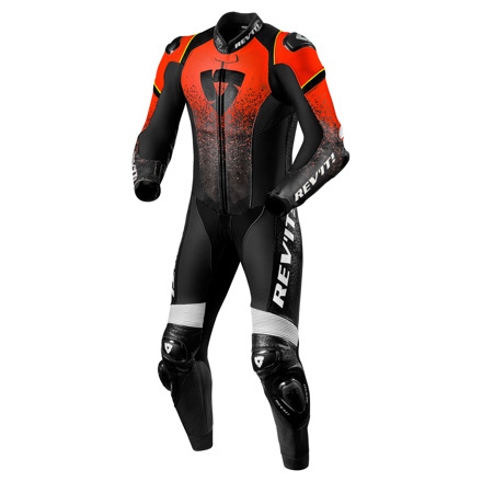 REV'IT! One Piece Quantum, Neon Rood-Zwart (1 van 2)