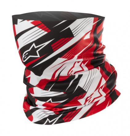 Alpinestars Blurred Neck Tube, Zwart-Wit-Rood (1 van 1)