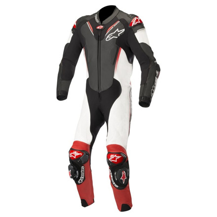 Atem V3 Leather Suit 1 PC - Zwart-Wit-Rood