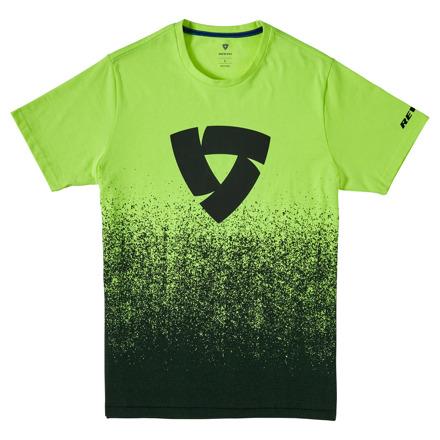 T-shirt Quantum - Zwart-Neon Geel