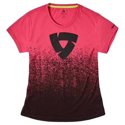 REV'IT! T-shirt Quantum Ladies, Zwart-Roze (1 van 2)