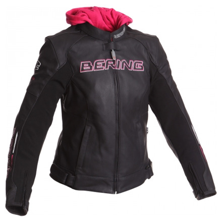 Bering Lady Switch BCB236 Leren damesjas, Zwart-Wit-Roze (1 van 2)