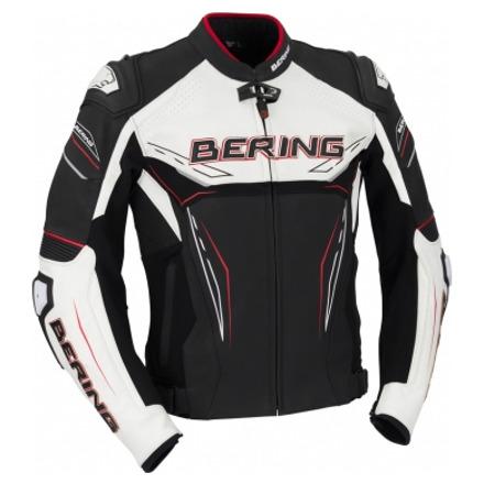 Bering Blast-R Leren jas, Zwart-Wit-Rood (1 van 2)