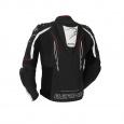 Bering Blast-R Leren jas, Zwart-Wit-Rood (2 van 2)