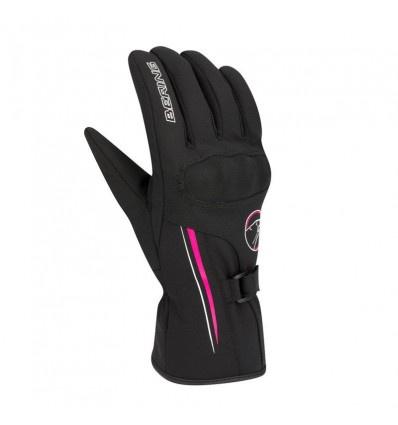 Bering Lady Kevina Handschoen, Zwart-Roze (1 van 2)