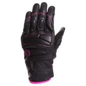 Lady Mezia Handschoen - Zwart-Roze