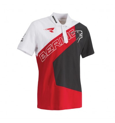 Polo Racing - Wit-Rood-Grijs