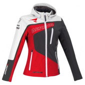 Softshell Racing Lady - Grijs-Rood