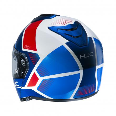 HJC I90 Hollen, Blauw-Wit-Rood (3 van 3)