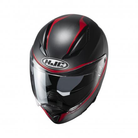 HJC F70 Feron, Zwart-Rood (3 van 3)