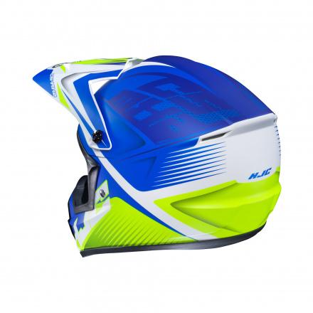 HJC CS-MX-II Ellusion, Wit-Blauw (2 van 3)