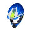 HJC CS-MX-II Ellusion, Wit-Blauw (Afbeelding 3 van 3)