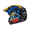 HJC CL-XY-II Batman DC Comics, Zwart-Blauw-Geel (Afbeelding 3 van 4)