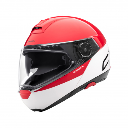 C4 Pro Swipe Helm - Wit-Rood