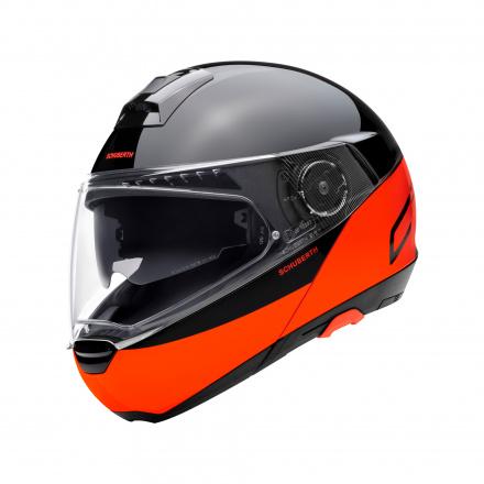 C4 Pro Swipe Helm - Oranje-Zwart