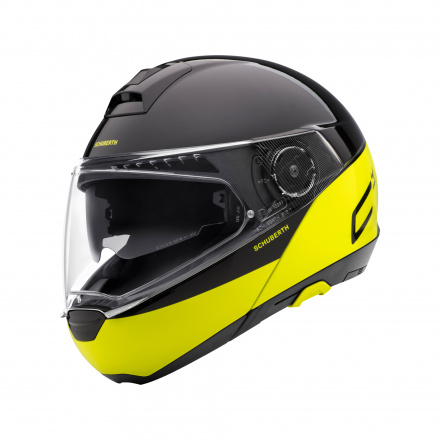 C4 Pro Swipe Helm - Geel-Zwart