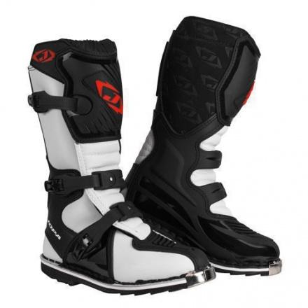 MX-Laarzen JS-12 Kids - Zwart-Wit
