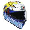 AGV K3 SV Rossi Wintertest 2016, Blauw-Geel-Wit (Afbeelding 1 van 7)