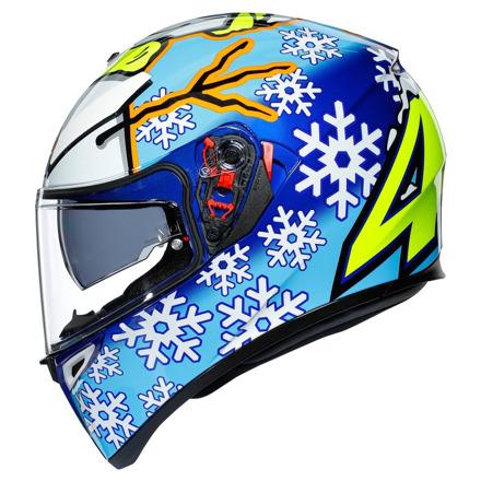 AGV K3 SV Rossi Wintertest 2016, Blauw-Geel-Wit (3 van 7)