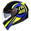 AGV K3 SV Ride 46, Zwart-Blauw-Geel (Afbeelding 3 van 7)