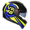 AGV K3 SV Ride 46, Zwart-Blauw-Geel (Afbeelding 5 van 7)